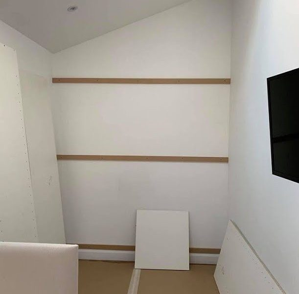 Fitted wardrobes - preparation